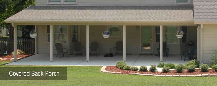 Covered back porch backyard ideas pinterest porch for Back porch cover ideas