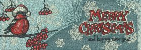 Merry Christmas Bookmark 3 embroidery design. Machine embroidery design. www.embroideres.com