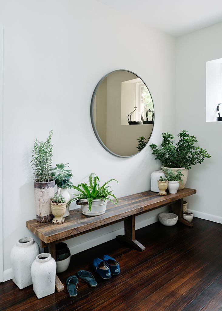 Perfect 18 Entryways with Captivating Mirrors | Rustic bench, Round  TI57