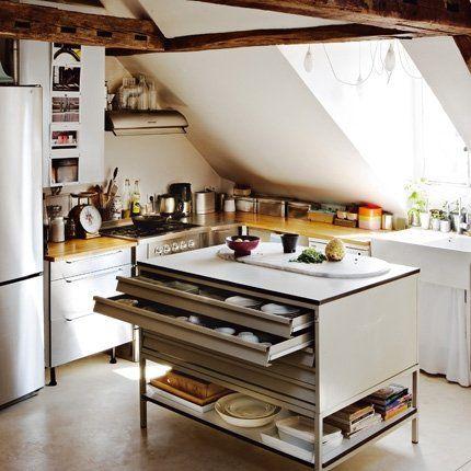 Décoration cuisine  une cuisine sous les toits Dans sa cuisine