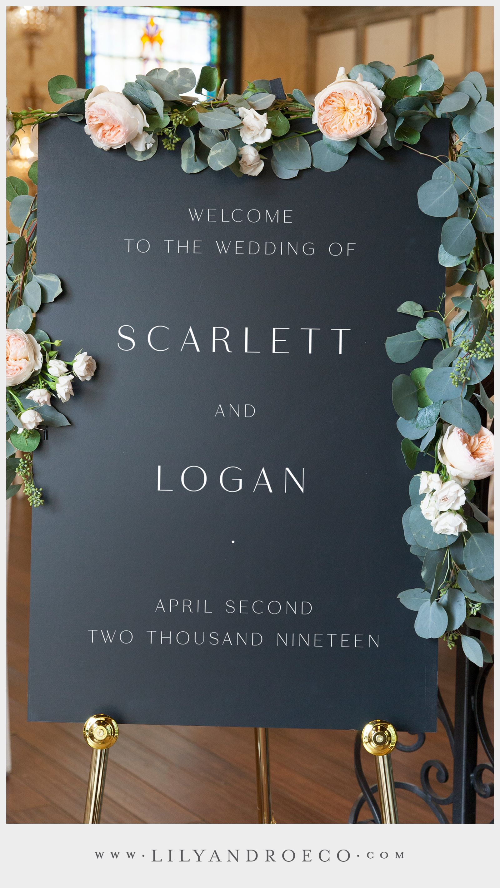 Personalized Wedding Signs for Ceremonies & Receptions #weddingwelcomesign