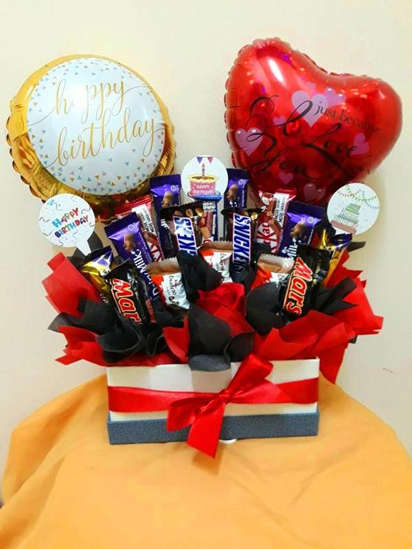 Birthday With Love Chocolate Box Get Well Soon Gifts I Love You Balloons Balloon Gift