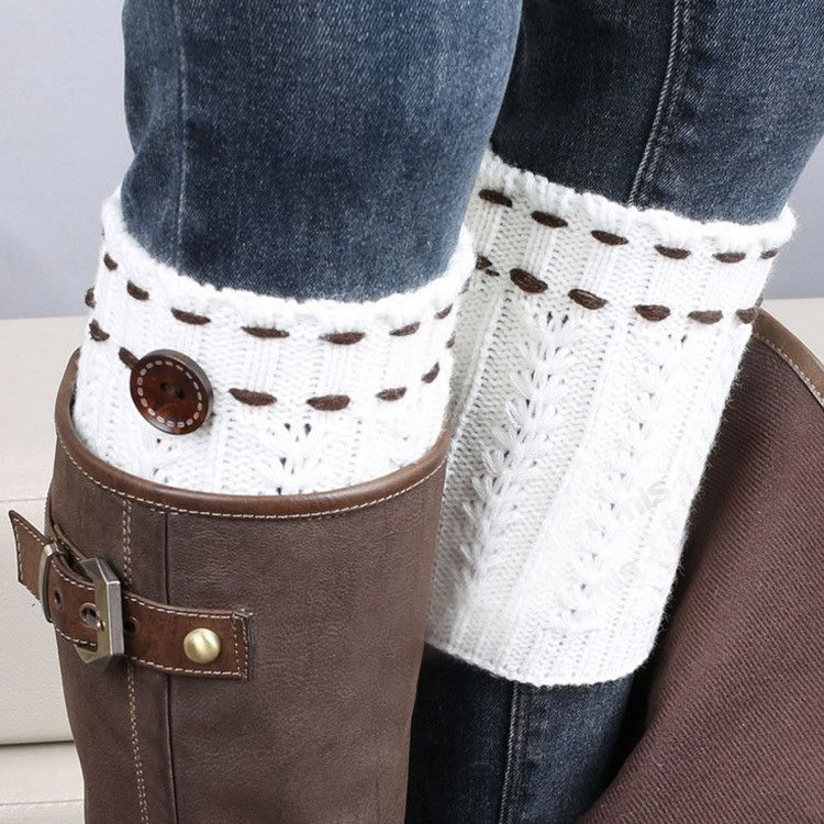 boot Socks with cute detail Crochet Leg Warmers in 3 color options ...