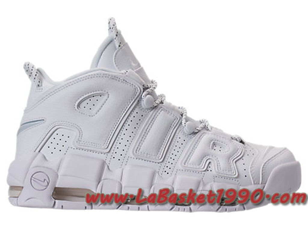 Nike - Baskets AIR MORE UPTEMPO '96 - 921948 blanc - Chaussures Baskets basses Homme