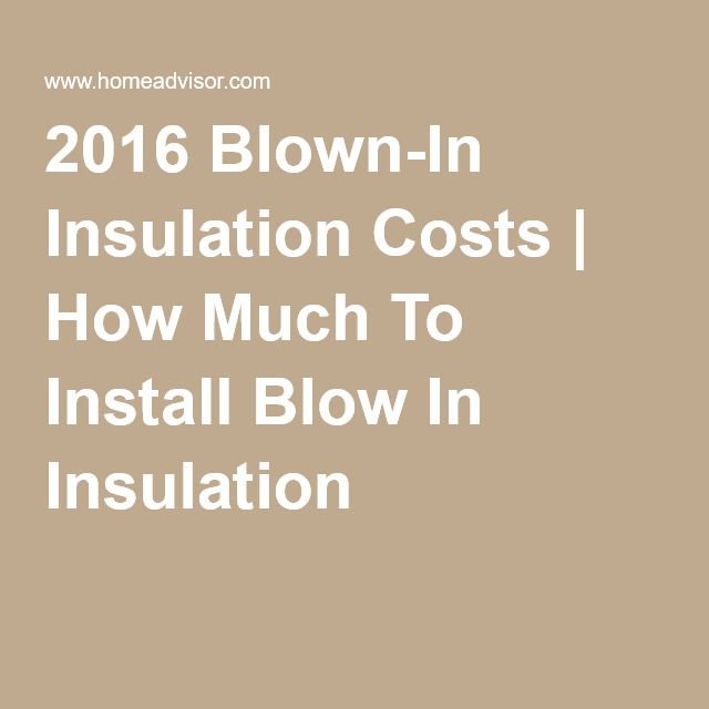 2016 Blown In Insulation Costs How Much To Install Blow In Insulation Blown In Insulation Diy Insulation Insulation Cost