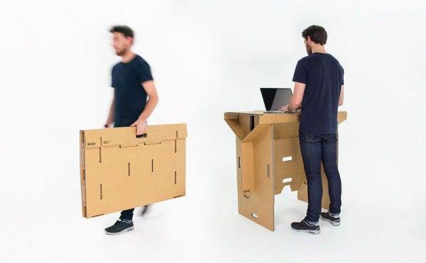 Recyclage Design En Carton Bureau Design Bureau Pliable