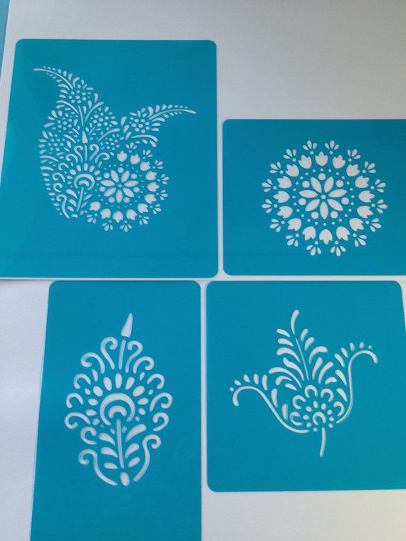 Mexican Tile Cake Cupcake Stencil Flexible Cookie Stencil