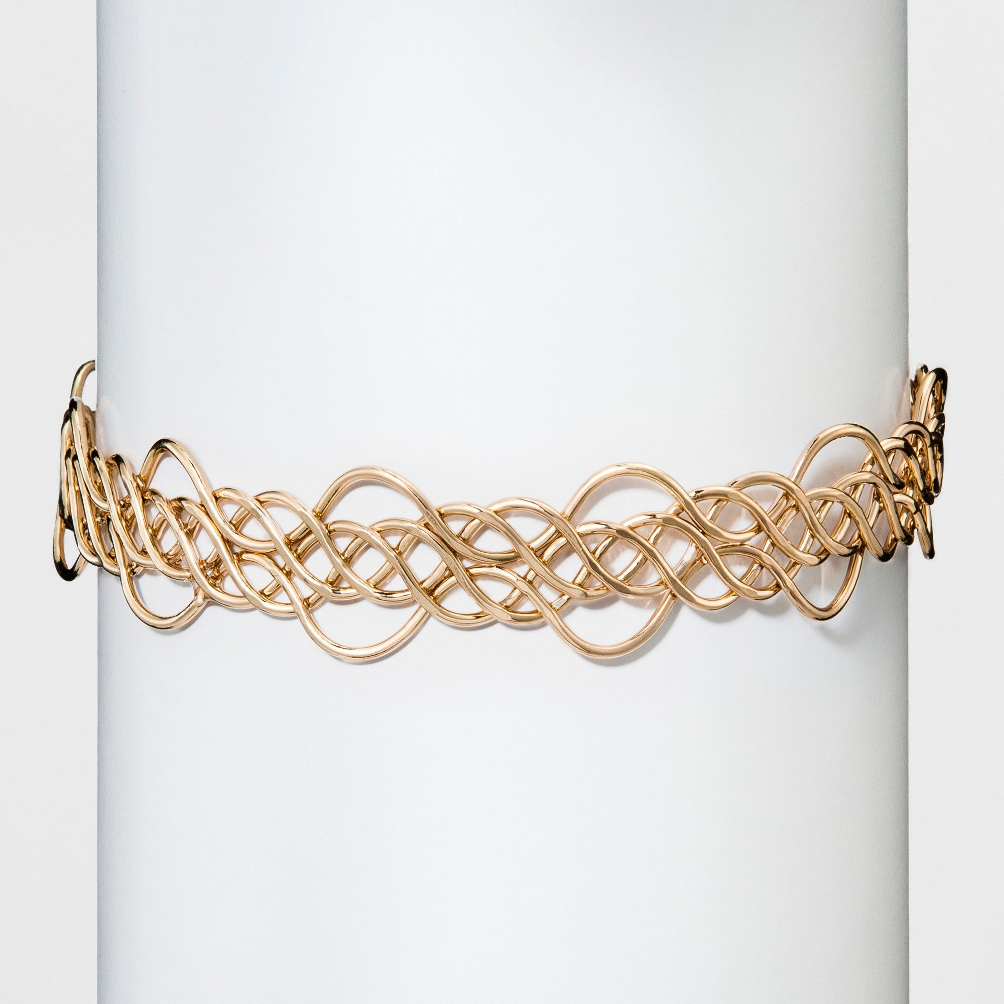 Womenus natasha accessories gold metal design choker gold