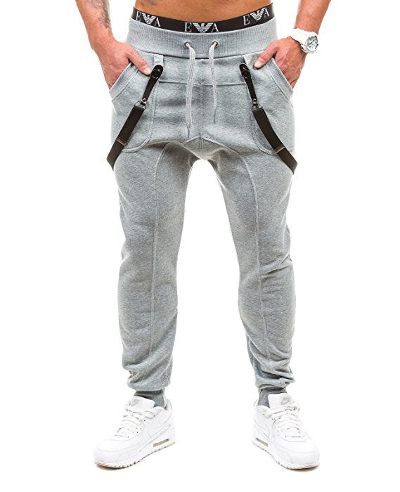 686f3f996c BOLF Hombre Pantalones Jogging Gym Tiempo Libre Bolsillos BBG 1106 Gris M   6F6