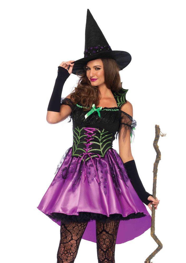 New Leg Avenue 85606 Spiderweb Witch Female Halloween Costume - female halloween costume ideas