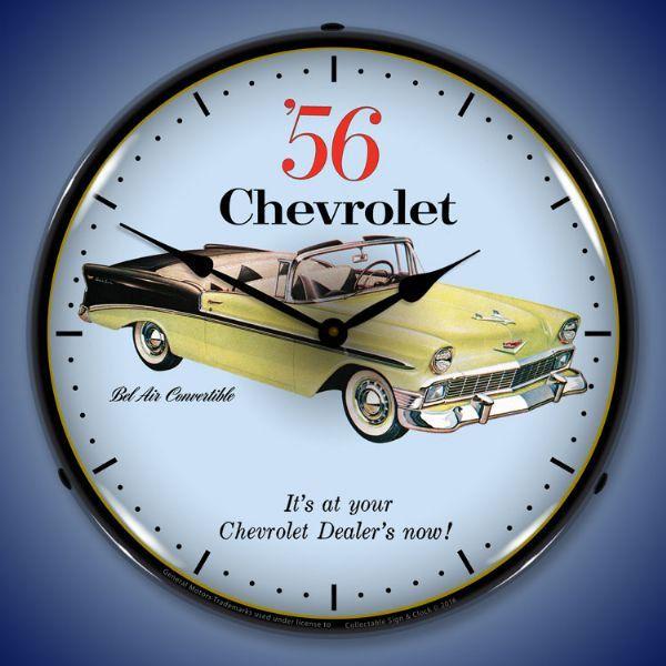 Led 1956 Chevrolet Bel Air Convertible 14 Backlit Etsy Chevrolet Bel Air Wall Clock Light Bel Air