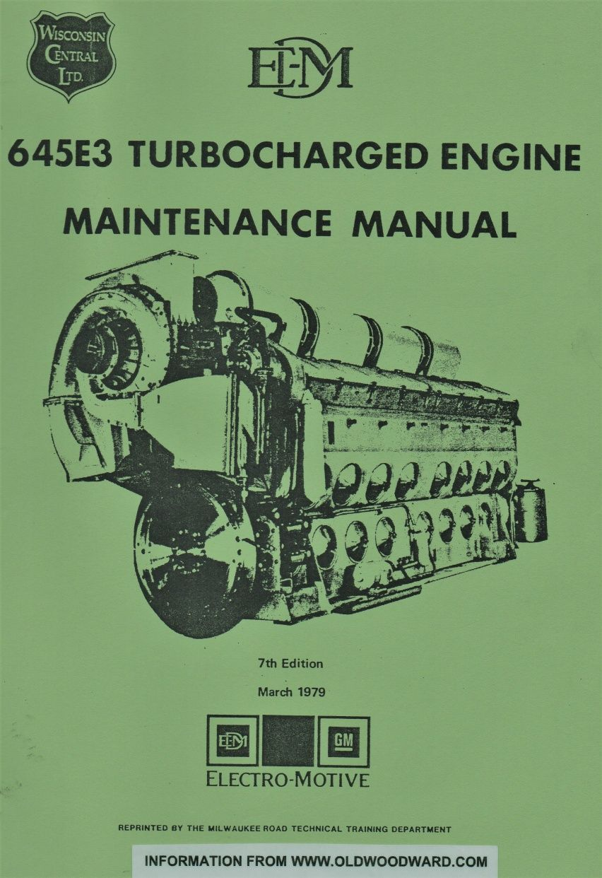 emd diesel engine type 645e3 maintenance manual cover 0 jpg rh pinterest com electromotive engine management system Electro-Motive Chicago
