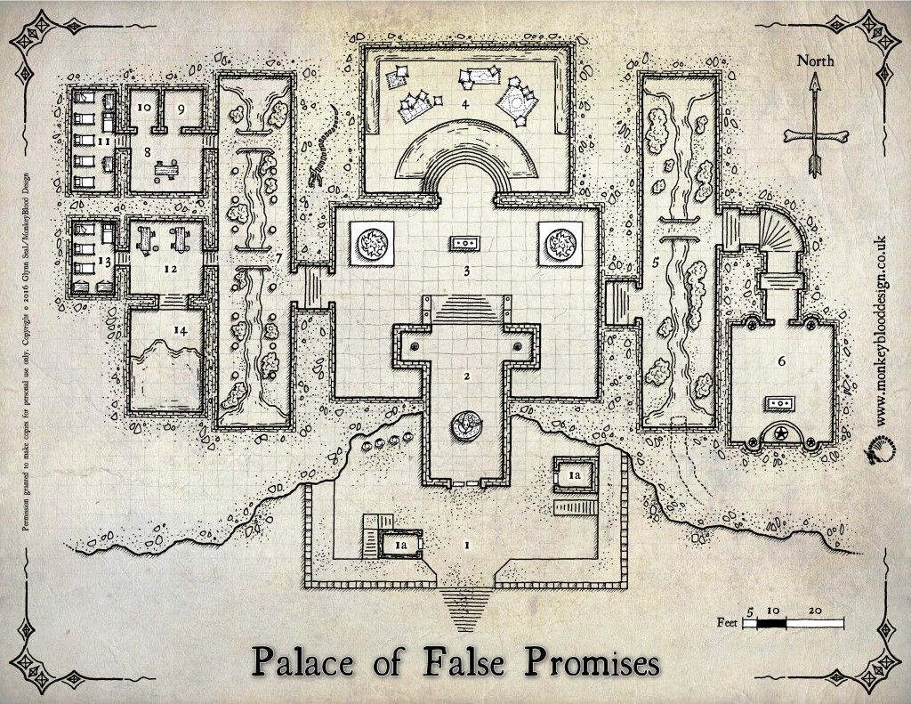 The Palace of False Promises (Colour Version with Labels) | Maps ...