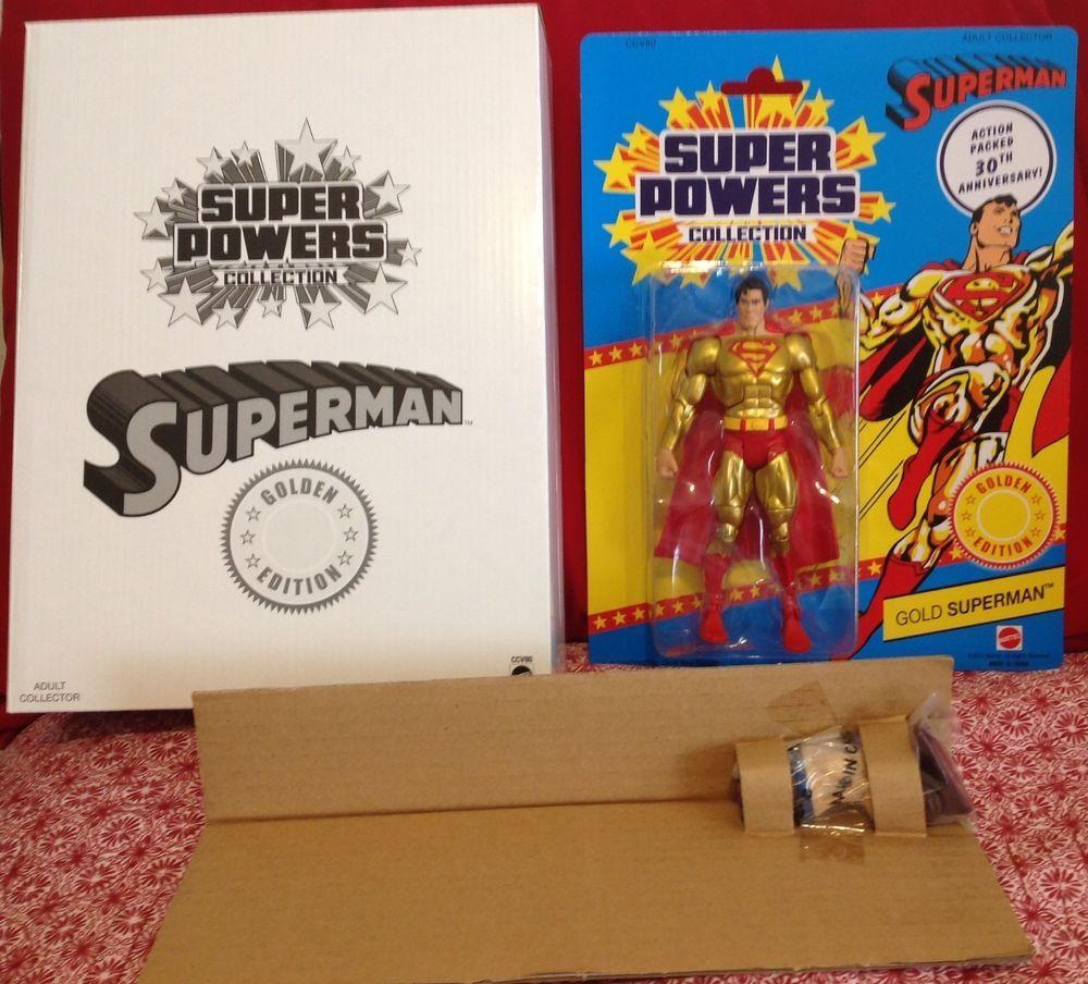 MATTY COLLECTOR DCSUPER POWERSGOLD SUPERMANGOLDEN EDITION 30 ANNIVERSARY