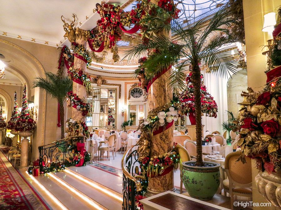 ritz hotel london palm court christmas decorations afternoon tea high tea - London Christmas Decorations