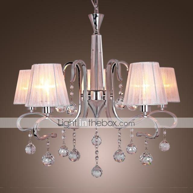 L mparas ara a moderno contempor neo galvanizado caracter stica for cristal metal sala de - Candelabros modernos ...