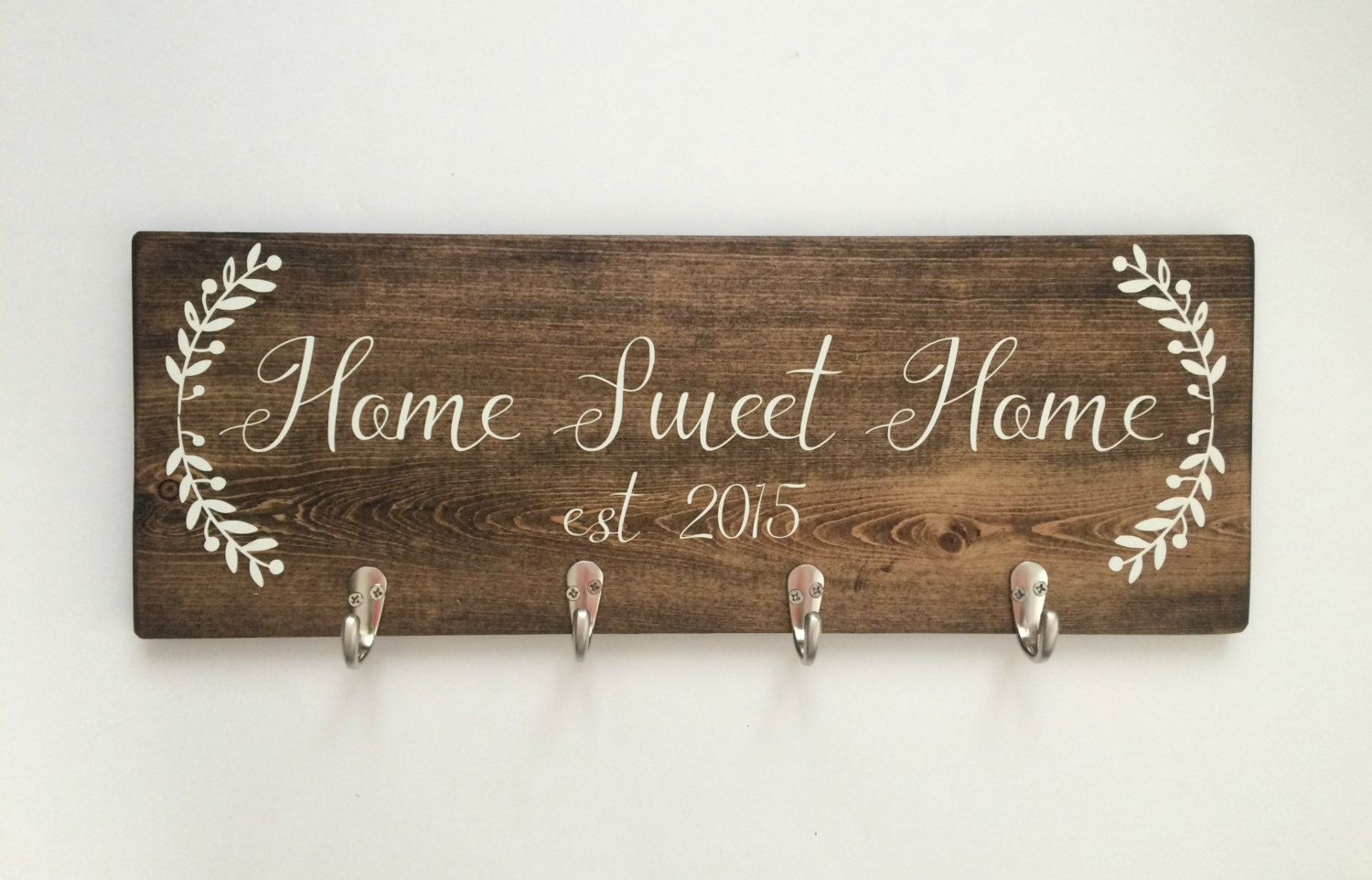 Home Sweet Home Wood Sign Key Holder For Wall Wood Key Holder New Home Housewarming Gift Home S Wood Signs For Home Wall Key Holder Personalized Wood Signs