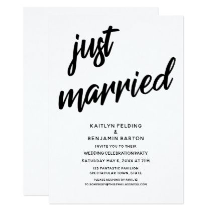 Just Married - event card template