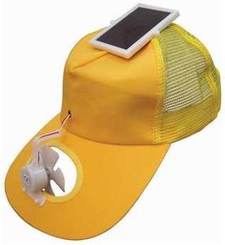 Solar Powered Fan Hat Wearable Gadget Looks And Feels Cool Wearable Gadgets Solar Powered Fan Geeky Gadgets