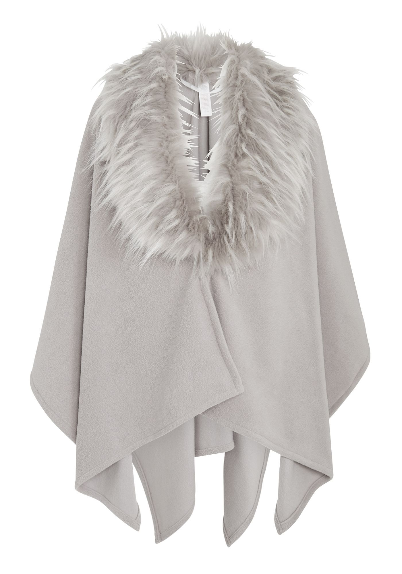 Tesco direct: F&F Faux Fur Collar Fleece Wrap | brand shop ...