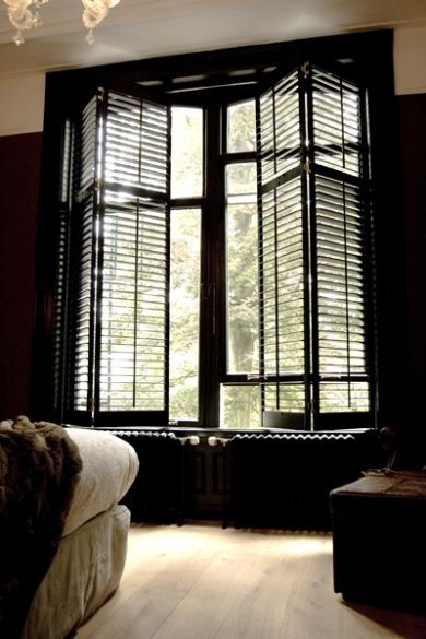 shutters | your bedroom at the house on Classen had two walls of ...