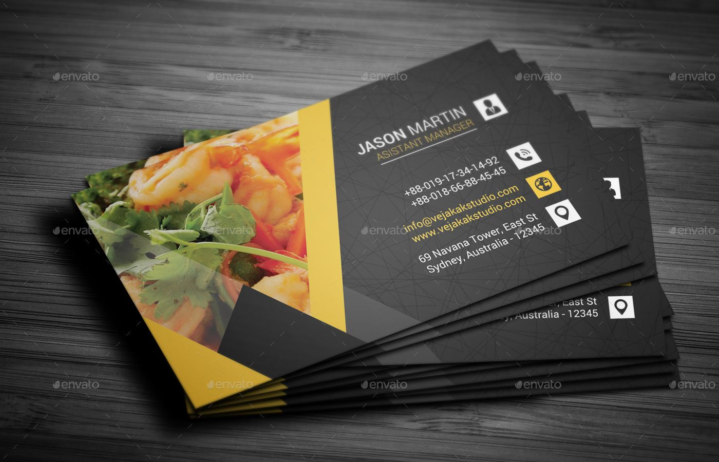 Restaurant Business Card With Images Food Business Card