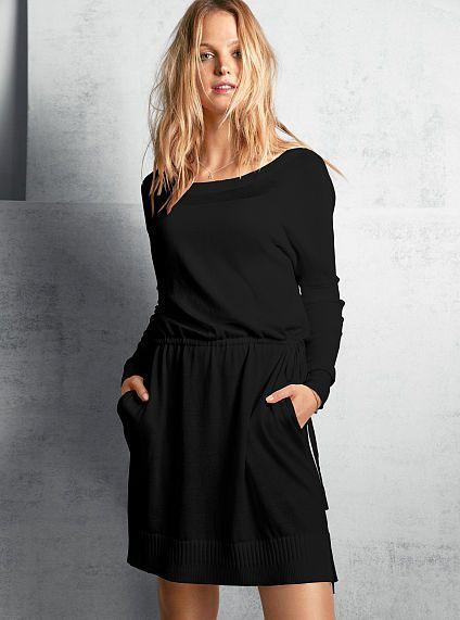 Mesh-inset Dolman Dress - A Kiss of Cashmere - Victoria's Secret