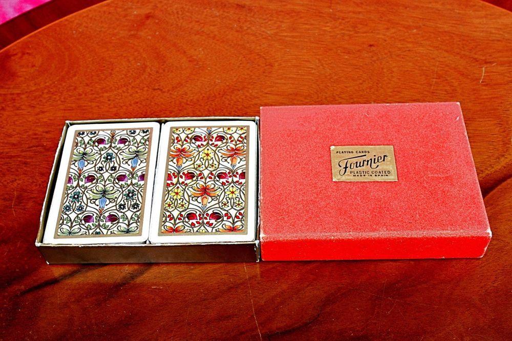 umweltfreundliche diy deck vintage fournier bridge playing cards double deck spain toys