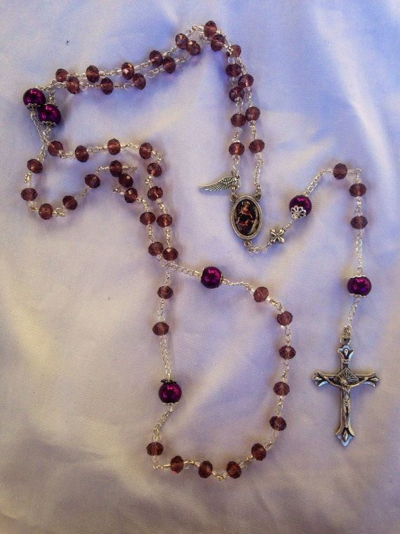 High Quality Handmade by Niki Personalised Rosary beads  Religious Baptism Gift