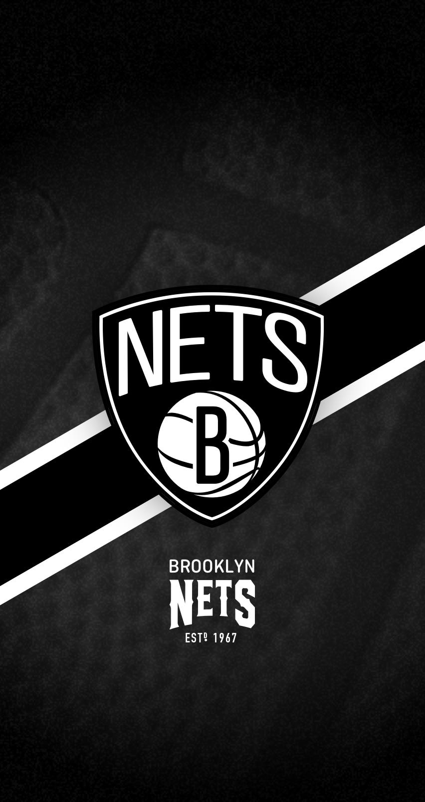 Brooklyn Nets Nba Iphone 6 7 8 Lock Screen Wallpaper Brooklyn Nets Nba Brooklyn
