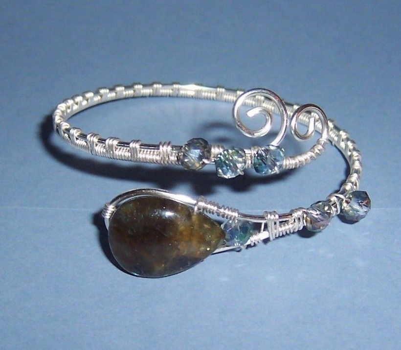 REDUCED! Beautiful Handcrafted Silver Wire Woven Adjustable Bracelet ...
