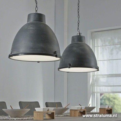 Hanglamp industrie beton balk 2-lichts | Straluma | verlichting ...