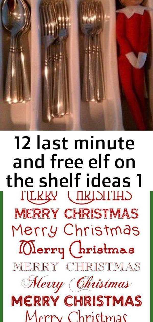 #Elf #FREE #Ideas #Minute #Shelf 12 Last Minute and Free Elf on the Shelf Ideas ...