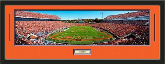 One Framed Large Clemson University Stadium Panoramic With