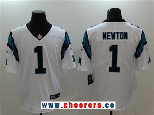 Men s Carolina Panthers  1 Cam Newton White 2017 Vapor Untouchable Stitched  NFL Nike Limited Jersey 55f491f98