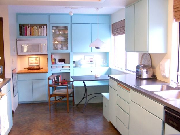 8 smaller kitchens my readers cook in light blue kitchens light