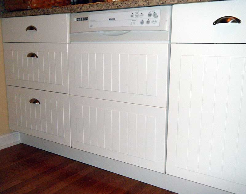 Ikea Hackers Custom Dishwasher Panel From Cabinet Fronts