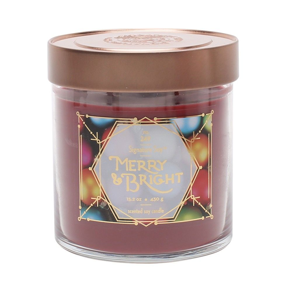 Küchendesign offener grundriss oz lidded glass jar candle merry u bright  signature soy red