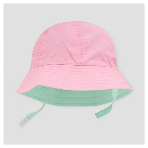 Baby Girls  Reversible Bucket Hat Cat   Jack™ - Pink   Mint   Target ... ba02f6207d2