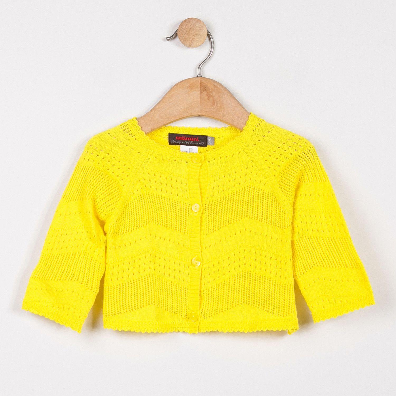 Catimini Openwork Knit Cardigan