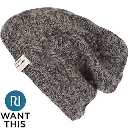Grey cable knit beanie - hats - accessories - men  7b0dfd0fcc5