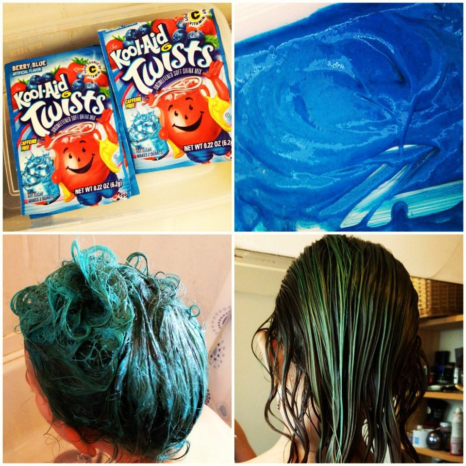 Dyeing Hair With Kool Aid Mermaid Hair A Stash Addict Food Coloring Hair Dye Kool Aid Hair Food Coloring Hair