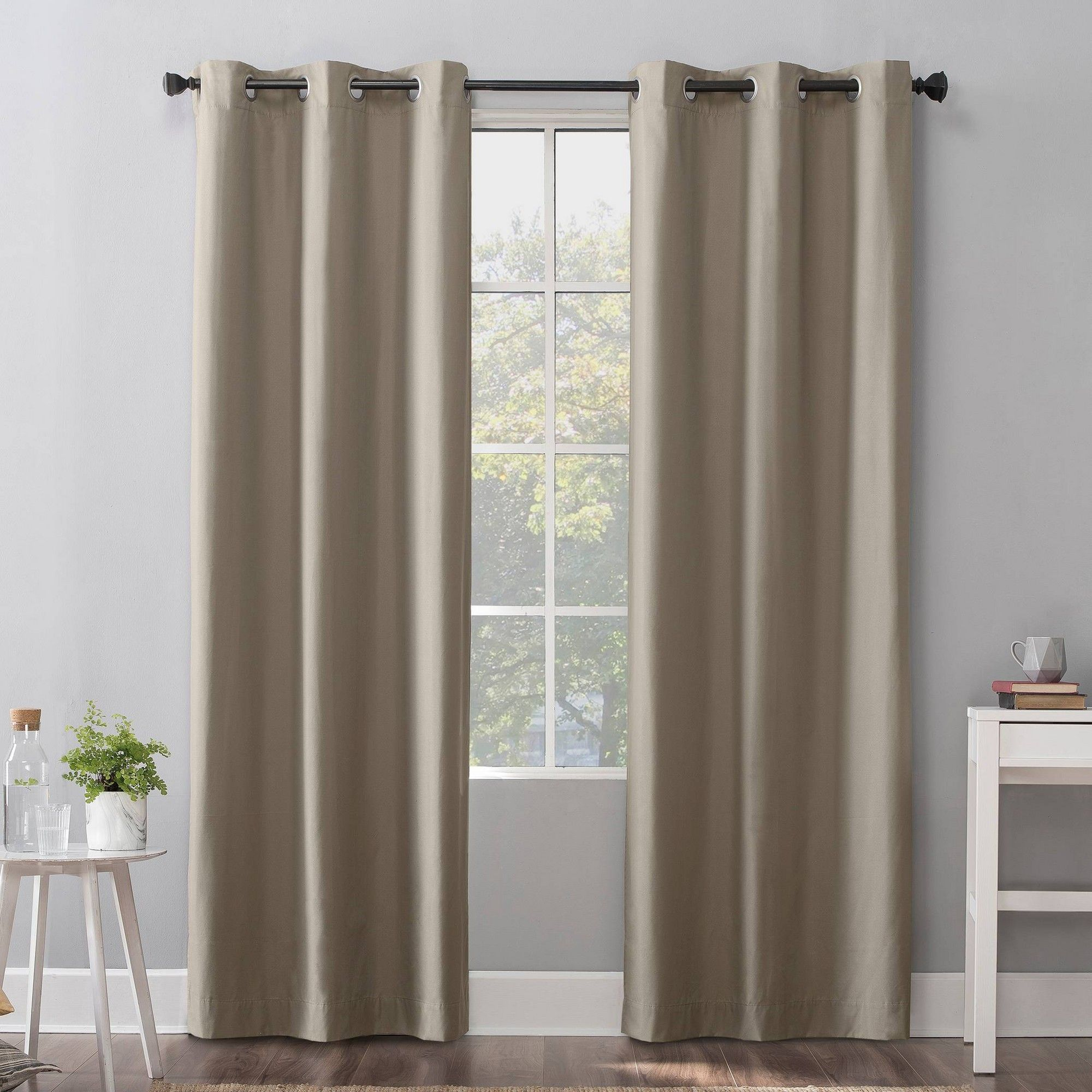 40 X96 Cyrus Thermal 100 Blackout Grommet Curtain Panel Beige