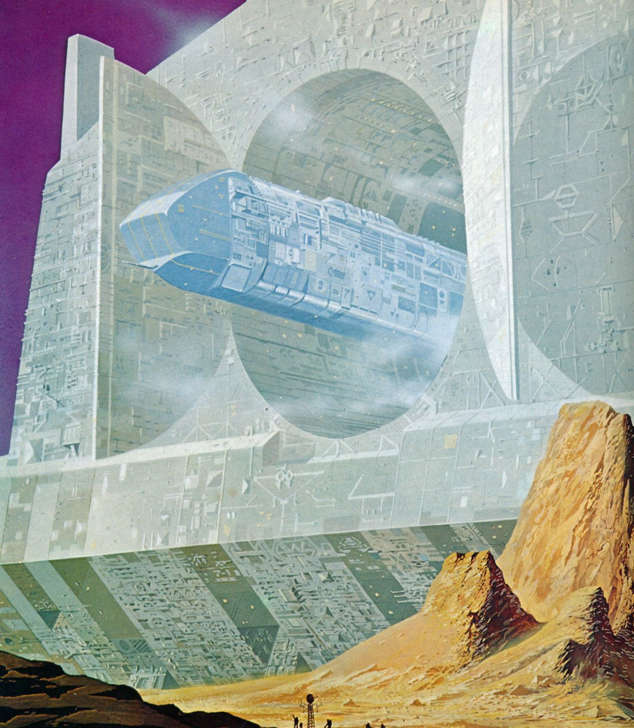 The Green Hills of Earth by Angus McKie from the book Futuropolis (1978)