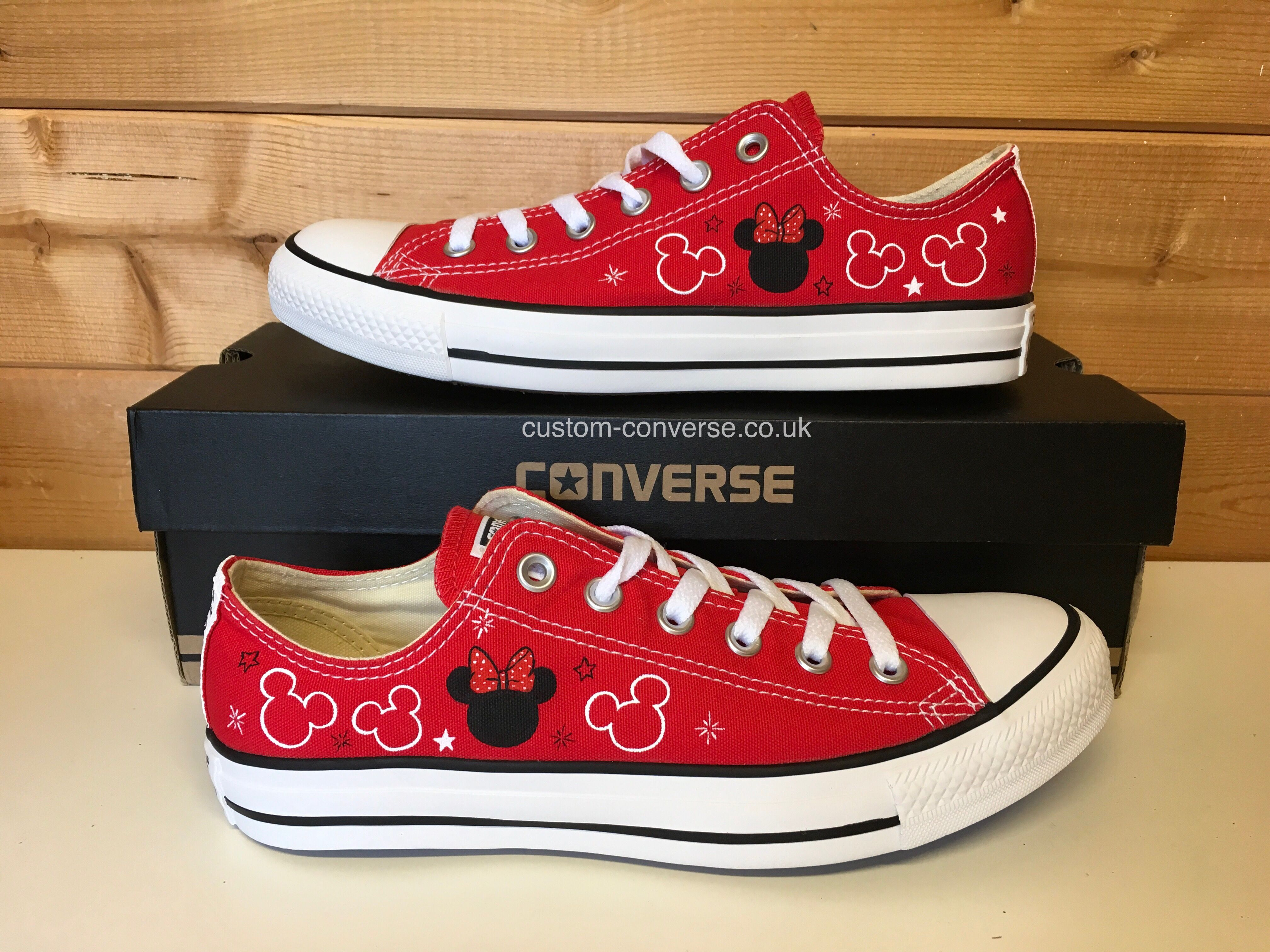 Minnie & Mickey in 2020 | Converse, Custom converse, Disney
