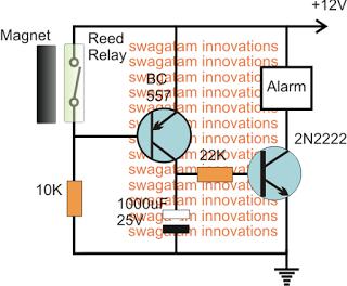Door Open Close Alarm Circuit | Home security systems ...