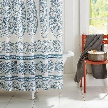 Lori Paisley Shower Curtain Pottery Barn Paisley Shower