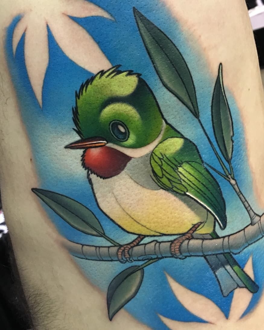 Bird tattoo done at the massachusetts tattoo and arts