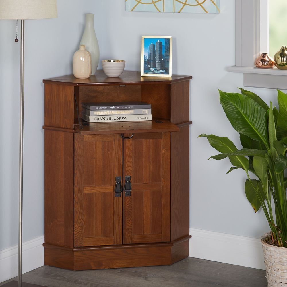 Small Corner Living Dining Room Display Case