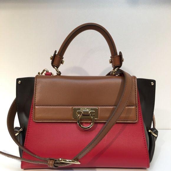 Salvatore Ferragamo Mini Sofia Tricolor Bag Brand New With Tags And Dustbag Limited Combination